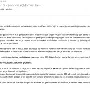 Voorbeeld ontvangen e-mail